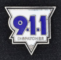 911 Dispatch Triangle Pin