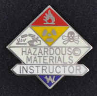 Hazardous Materials Instructor Pin