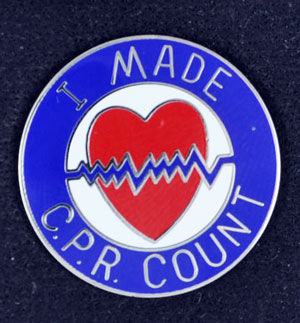 I Made CPR Count Pin