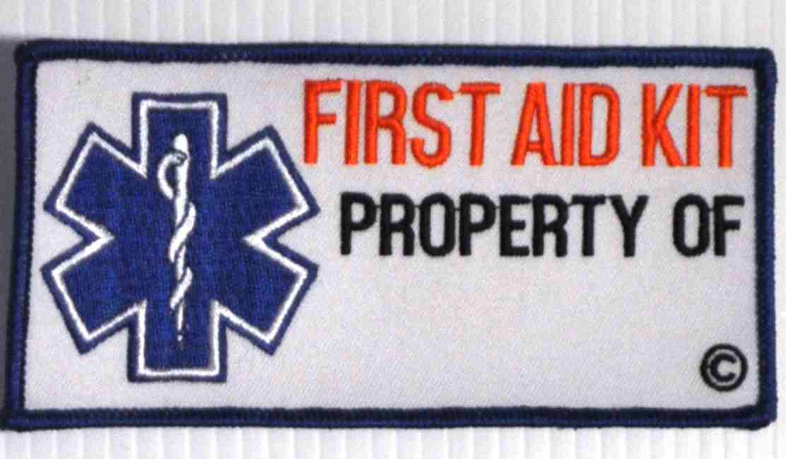 First Aid Kit Property of Patch Embroidered Patch