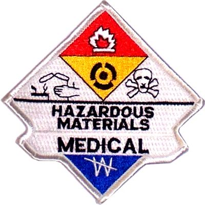 Hazmat Medical Embroidered Patch