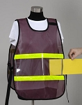 Model #PON3 Poncho Style Incident Command System Vinyl Window ICS Vest