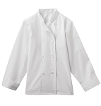 Five Star Ladies 8 Button Chef Jacket - WHITE