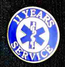 11 Year EMS Service Pin