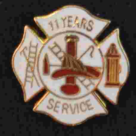 11 years Fire Service pin