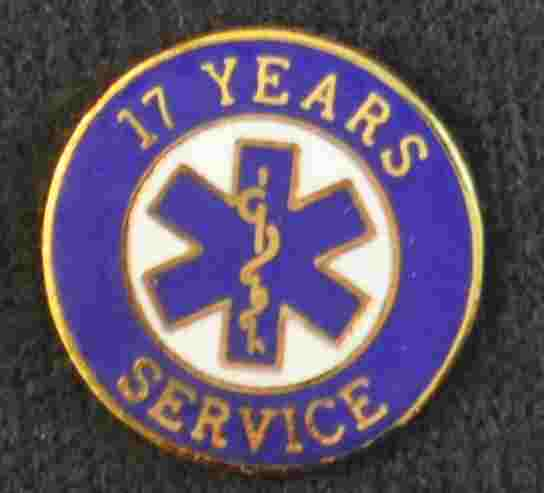 17 Year EMS Service Pin