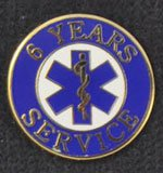 6 Year EMS Service Pin