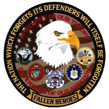 Defender of Freedom 12 inch Embroidered patch