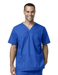 Men's Multi-Pocket Utility Scrub Top medical scrub