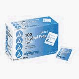Alcohol Prep Pads CASE - Large - box of 100; 10 boxes/case