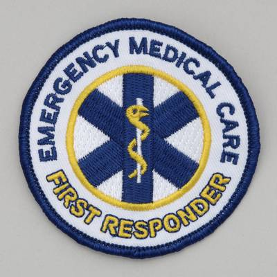 Embroidered Patch - Emergency Medical Care - First Responder 3 inch