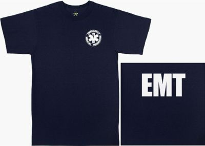 Navy Blue 2-Sided E.M.T. Tee