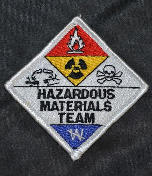 Hazmat Team Embroidered Patch 3 x 3