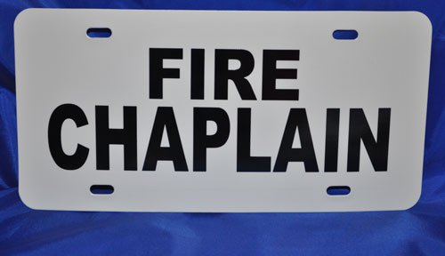 Fire Chaplain Visor License Placard