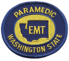 Washington State Paramedic Patch Gold