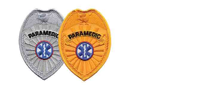PARAMEDIC Badge Patch Silver