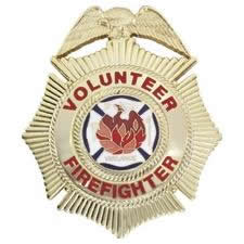 Volunteer Firefighter Badge Choose Gold or Nickel