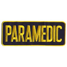 PARAMEDIC Back Patch Gold/Black