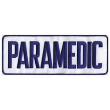 PARAMEDIC Back Patch Royal Blue/White