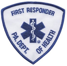Pennsylvania First Responder Patch