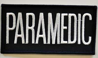 PARAMEDIC Chest Emblem White/Navy Blue