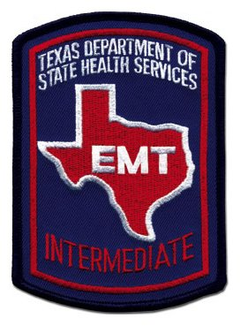 Texas EMT Intermediate Patch - Color