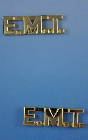 E.M.T. Letters Pin Sold in Pairs 3/8