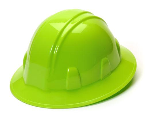 Full Brim Hard Hat 4-Point Ratchet
