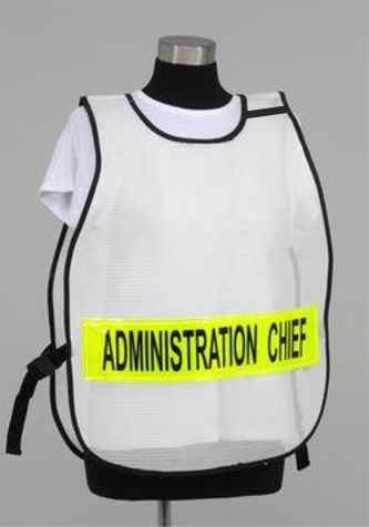 Model #PON3 Poncho Style Incident Command Vest - Custom Title
