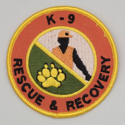Embroidered Patch - K-9 Rescue and Recovery Patch