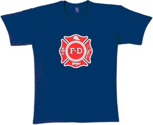 Navy Blue Fire Dept. T-Shirt
