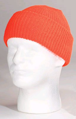 High Visibility Orange Watch Cap - Blank