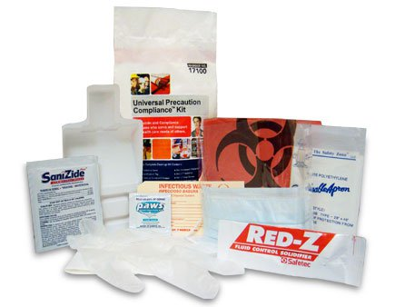 Universal Precaution Kit Combination Protection-Clean-up Kit - Polybag