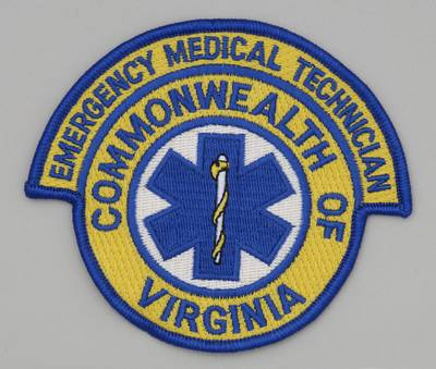 Embroidered Patch - Virginia EMT - Embroidered Patch