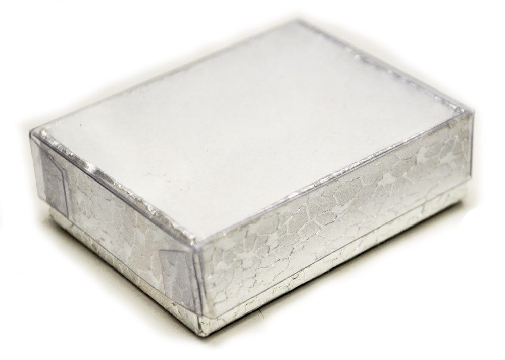 Clear View Box for Pins - Box/100 - Silver Finish
