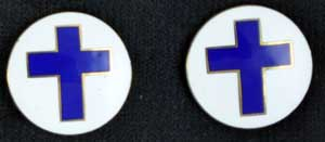 Chaplain Cross Round Emblem Pins