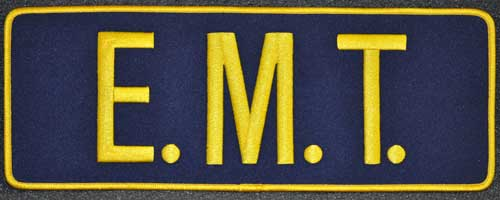 EMT Back Patch Gold/Navy