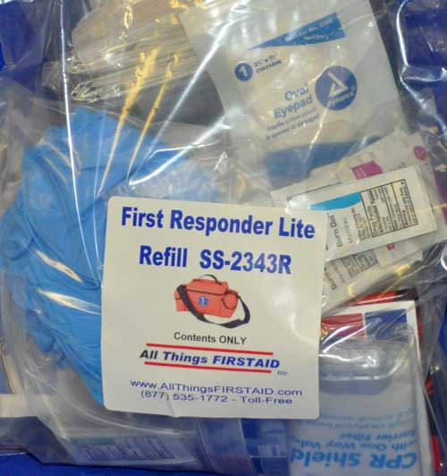 First Responder Lite Medical Kit Refill (no bag)