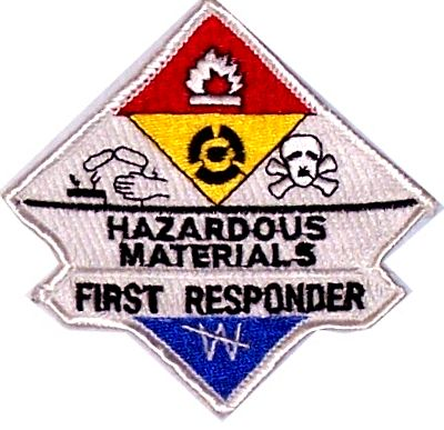 Hazmat First Responder Embroidered Patch