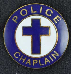 Police Chaplain Pin Cross