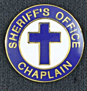 Sheriff Chaplain Pin Cross