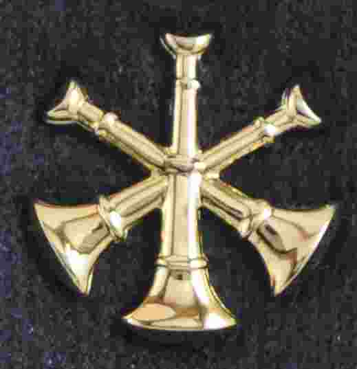 Assistant Chief Triple Bugle Pins Sold in pairs