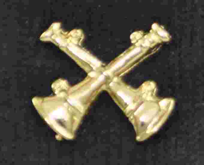 Fire Captain Double Crossed Bugle Pins Sold in pairs