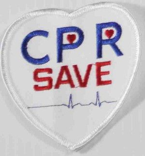 CPR Save Heart Embroidered Patch