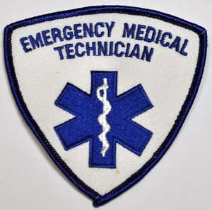 Emergency Medical Technician Shield Embroidered Patch