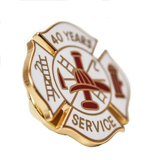 40 years Fire Service pin