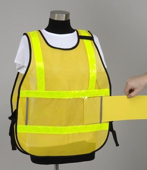 Model #PON5 Poncho Style Incident Command System Vinyl Window ICS Vest