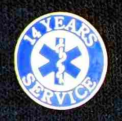 14 Year EMS Service Pin