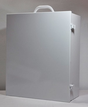 Empty 3 Shelf Industrial First Aid Cabinet with Swing Door 1 each