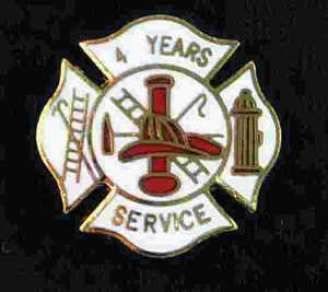 4 years Fire service pin
